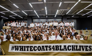 #WhiteCoats4BlackLives